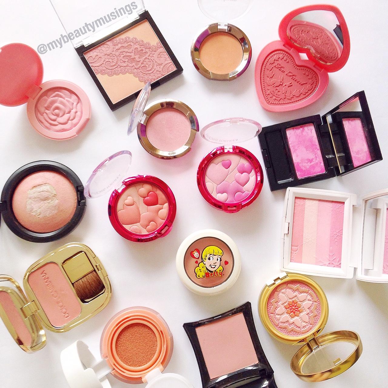 makeup blushes