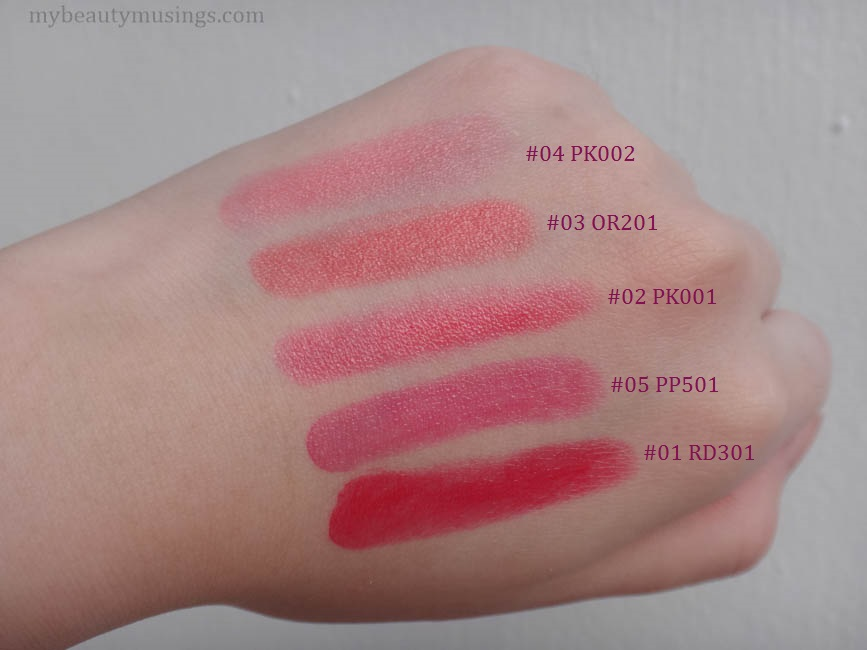 Etude House Sweet Cherry tint swatches