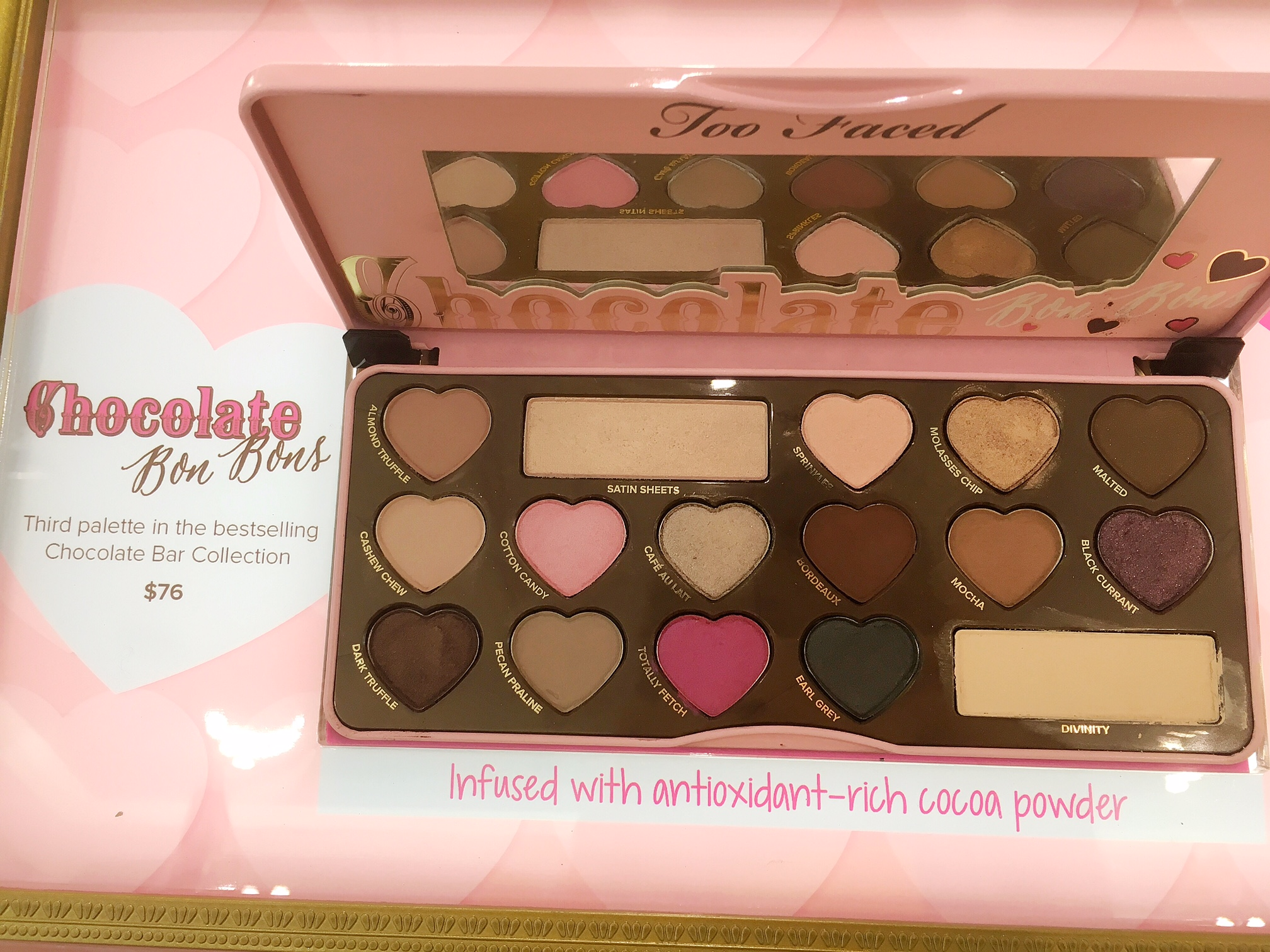 Too Faced Chocolate Bon Bons Eyeshadow Palette Singapore