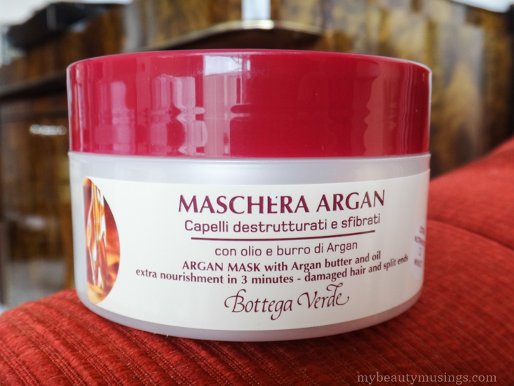 Argan hair mask bottega verde