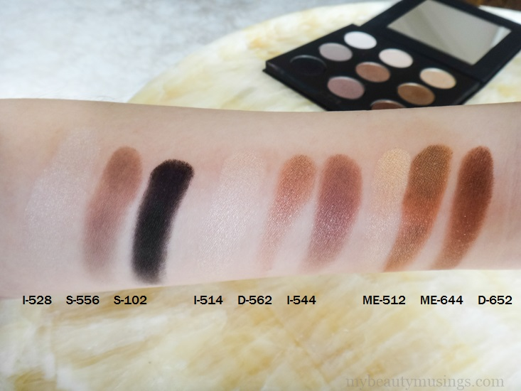 Make Up For Ever #1 Artist Palette Swatches