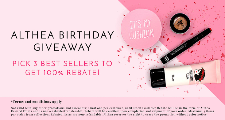 Althea korea birthday giveaway rebate