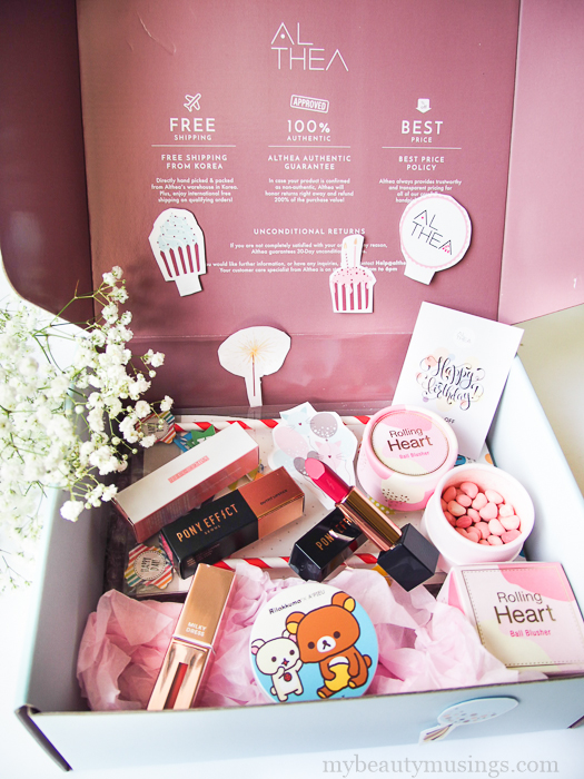 althea korea unboxing haul