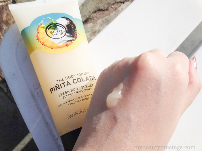 The body shop Pinita Colada Body Sorbet review